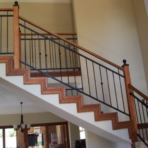 balustrades with wood and steel