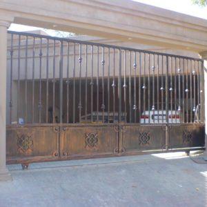 full steel driveway gates
