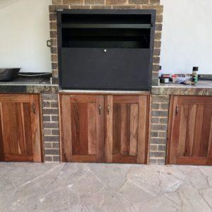 custom made braai doors