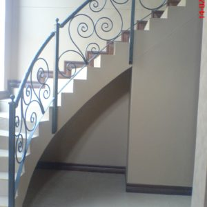 Balustrades with curls