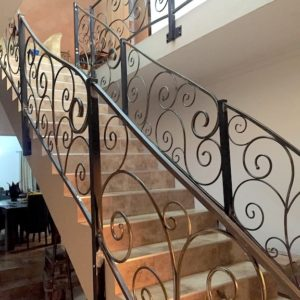 steel balustrades with curls